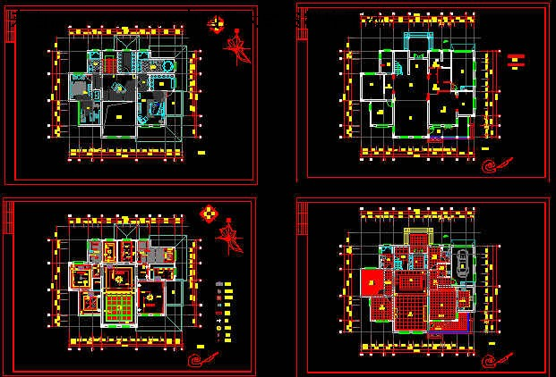 《整套欧式别墅设计装修图(dwg)3.35mb.part2》