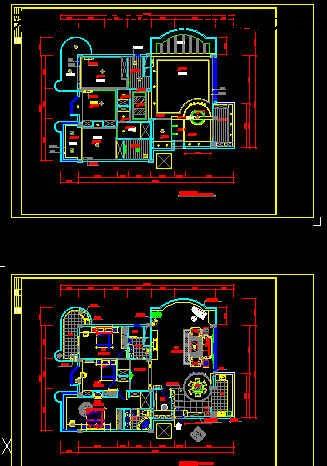 《私人住宅装修设计图(dwg)2.22mb.part1》