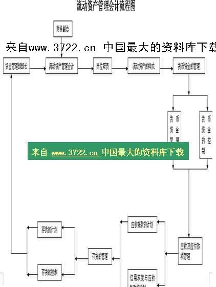 【财务管理制度及作业流程图—流动资产管理会计流程