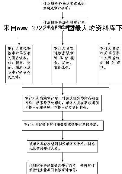 《[流程管理]内部财务审计流程图(doc 6页)》