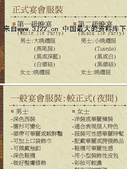 [酒店行业]宴会服装礼仪(ppt