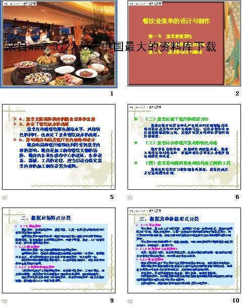 《餐饮业菜单的设计与制作(ppt 23页)》