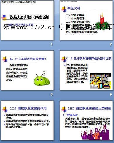 钧瀚大酒店职业道德培训(ppt