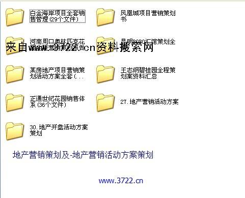 房地产营销策划系列-地产营销策划及-地产营销活动方案策划等打包资料(422个文件,